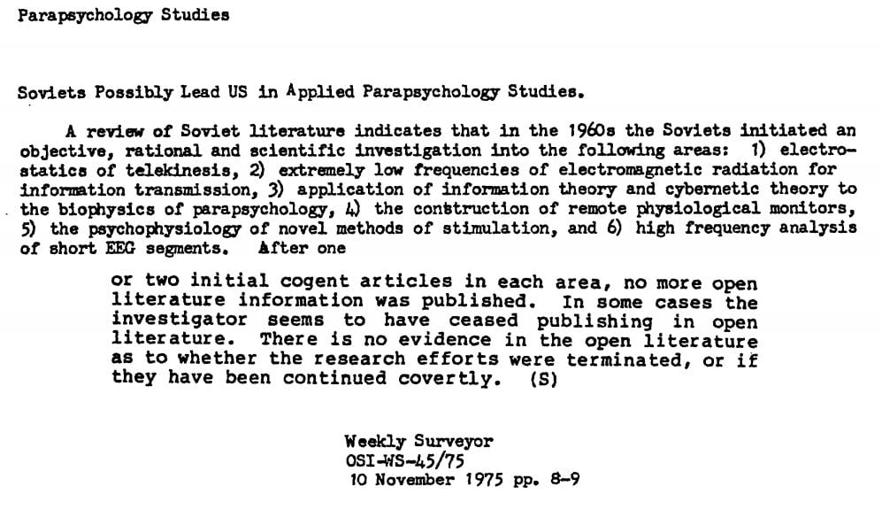 Parapsychology Studies