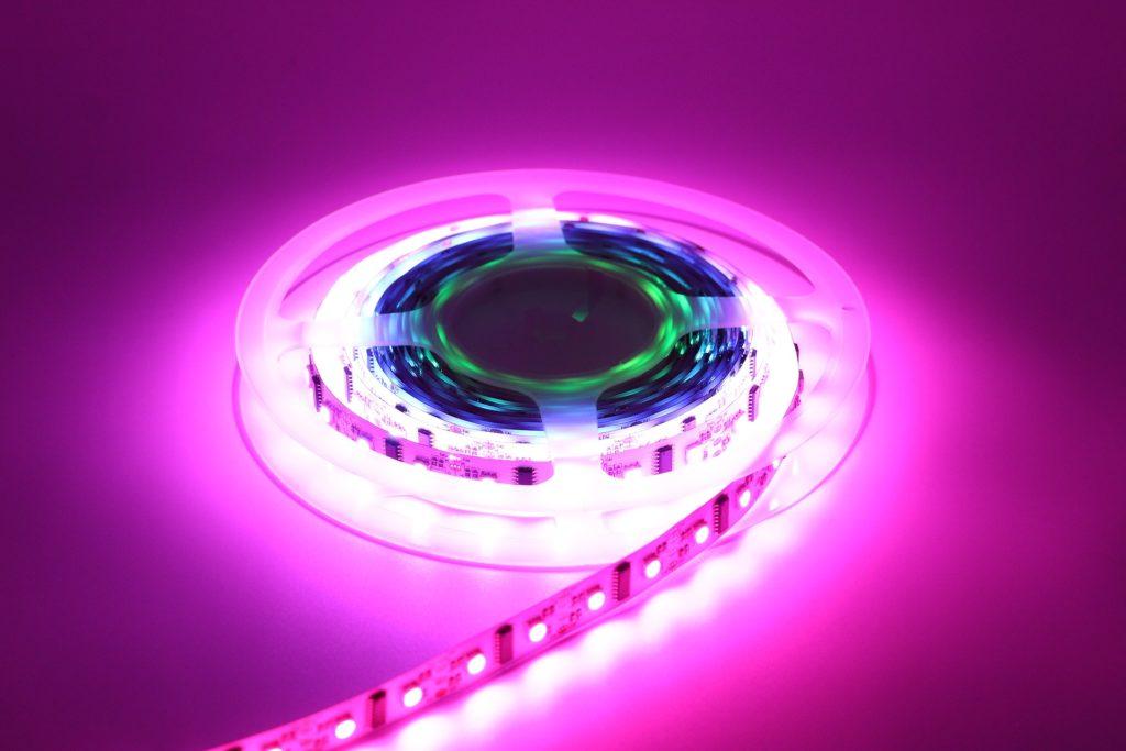 purple LED lights