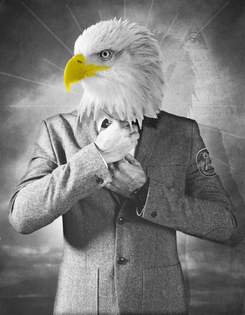 Illuminati Leader Eagle Head