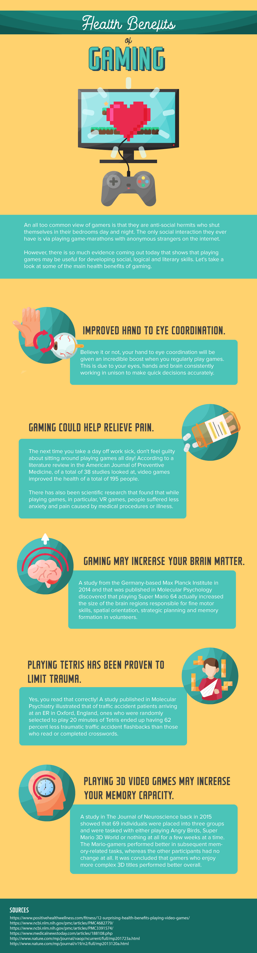 health benefits of gaming infographic