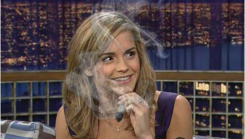 emma watson smoking illuminati signs