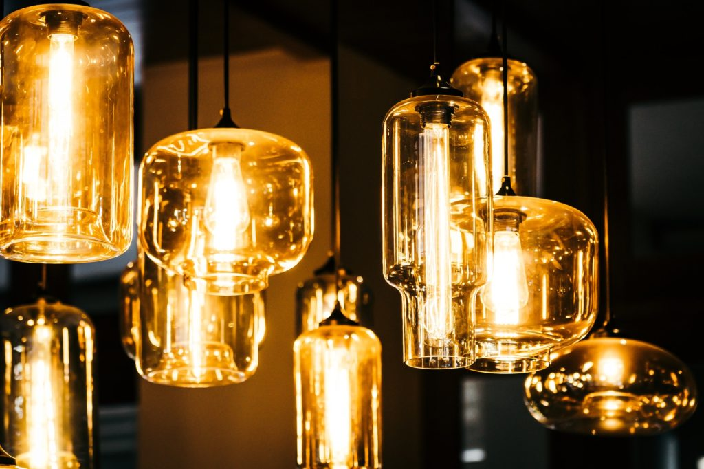Beautiful Light lamp bulb decoration interior of room