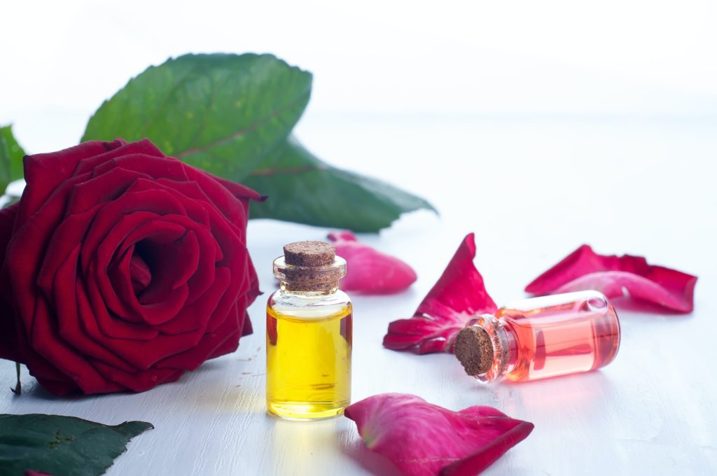 Bottles of Essential Oil for Aromatherapy
