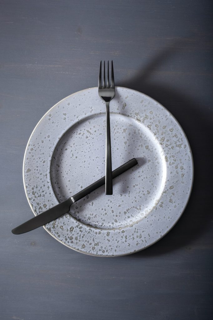 concept of intermittent fasting and ketogenic diet, weight loss.