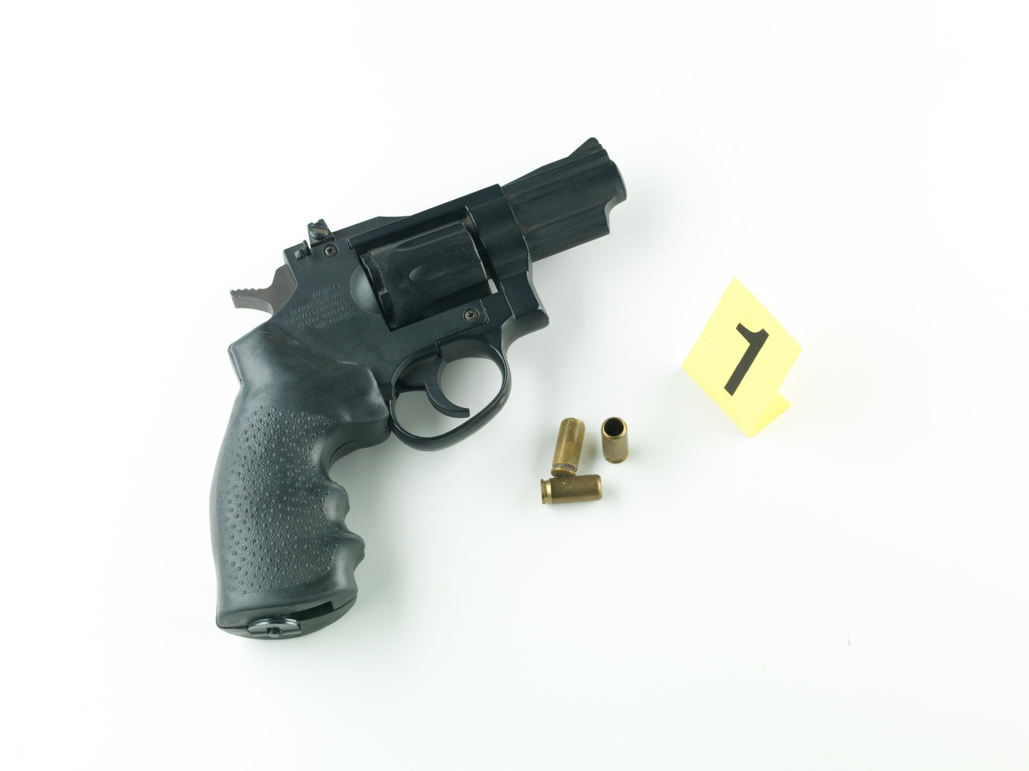 gun and bullet casing evidence