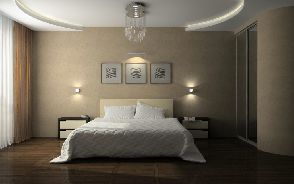 Interior of the stylish bedroom