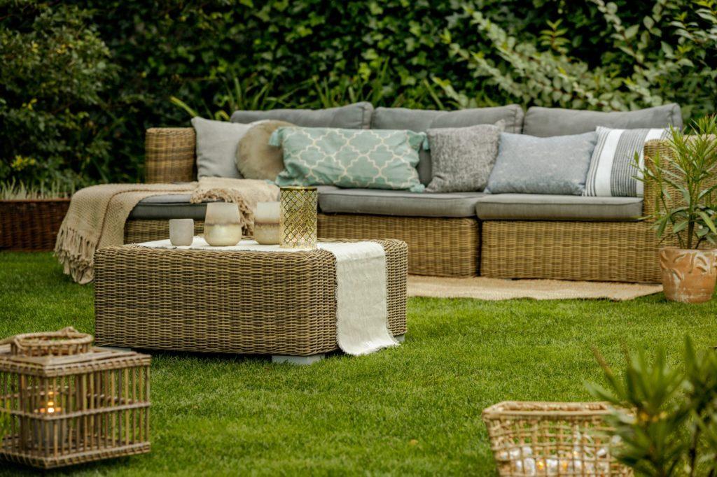 Lounge in garden