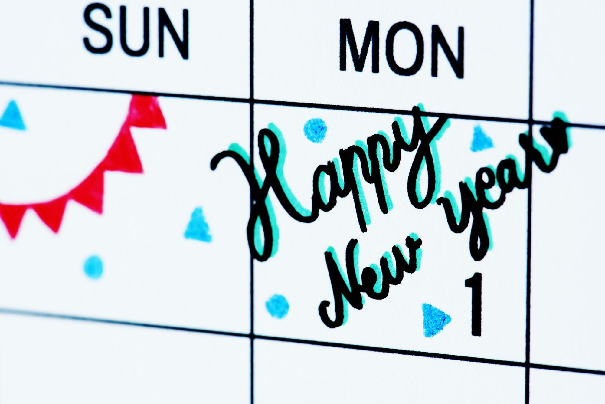 New year calendar reminder