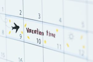 Vacation calendar reminder