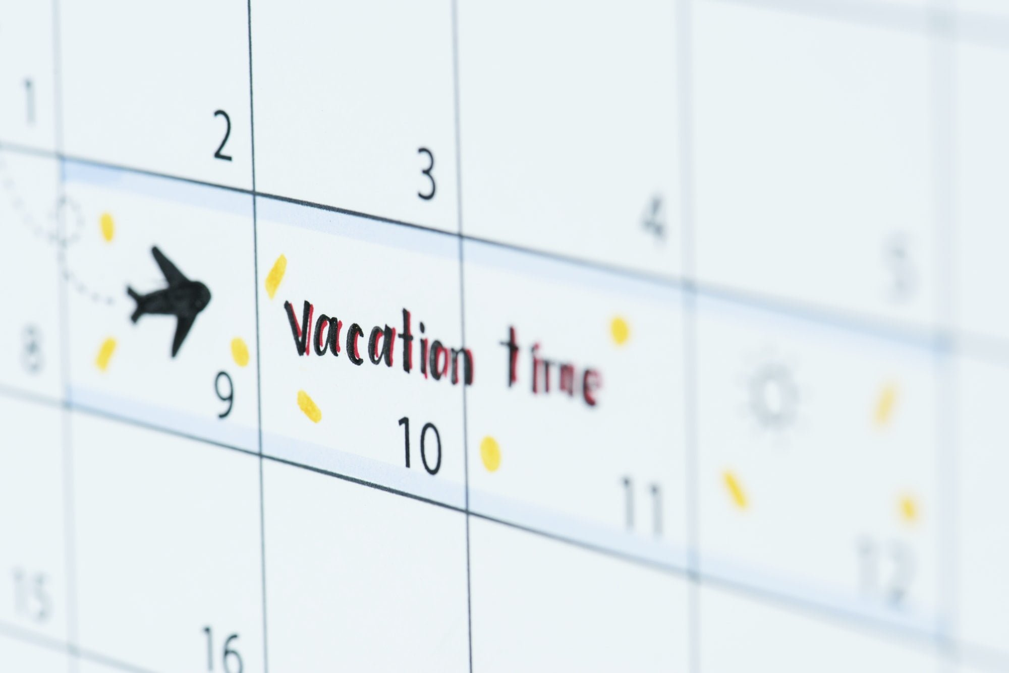 Vacation calendar reminder