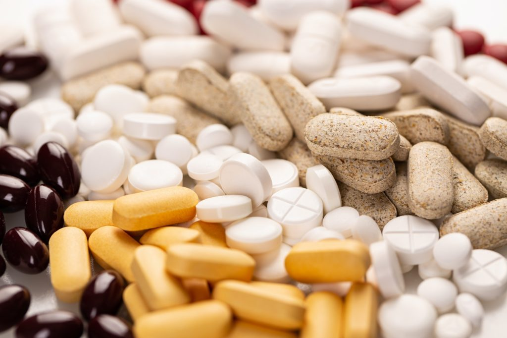 Various medicine tablets