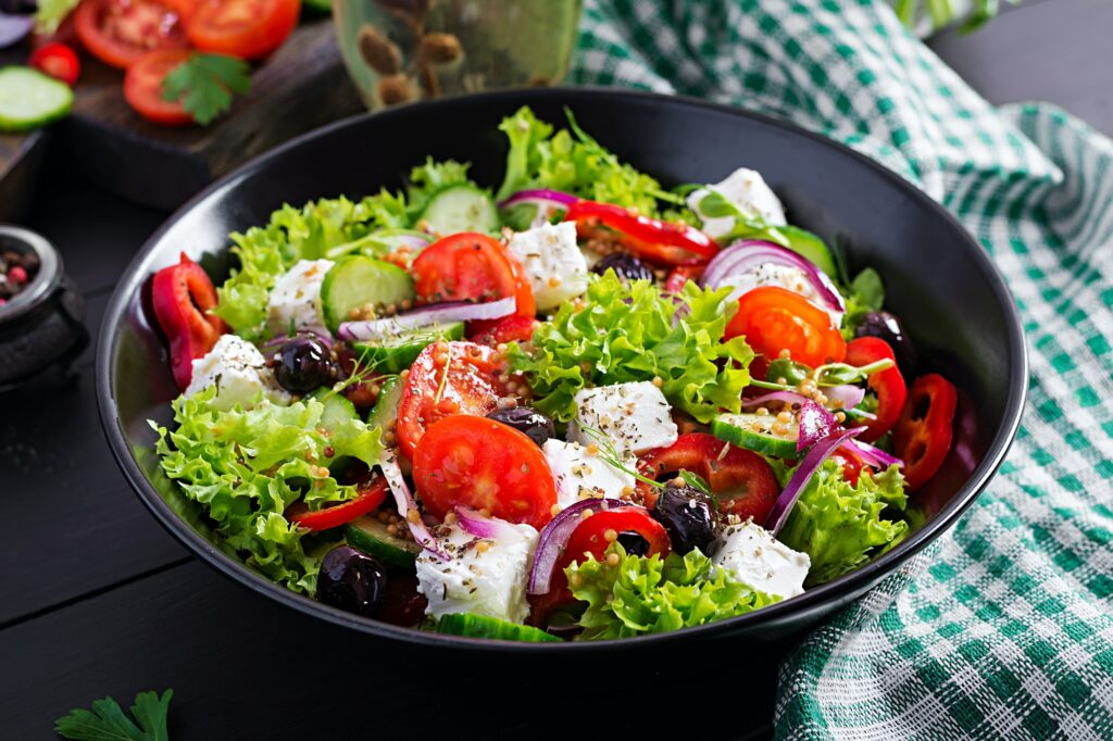 Healthy food. Greek salad